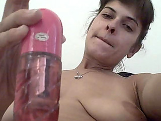 smoking slutty amp likes a solo masturbation