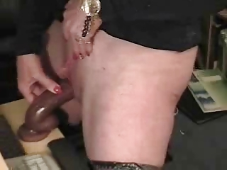 my older  pervert milf into a stolen video.