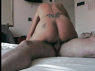 young drill with sperm off butt tattoo
