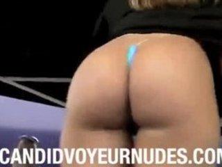 micro underwear thin contest arse voyeur candid