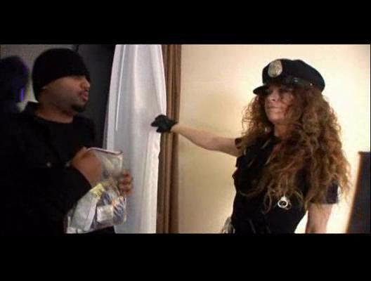 older  police officer lady fucks ebony criminal