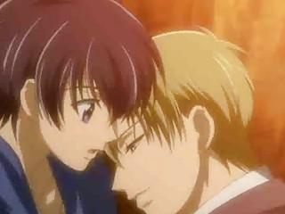 sleeping anime gay teenager romanced under a tree