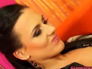 glamour satin homosexual women dildo masturbation