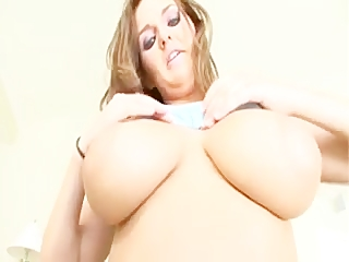 Big tit 18-year-old handles two cocks