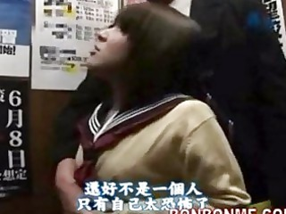 japanese schoolgirl cock sucking and drilled by