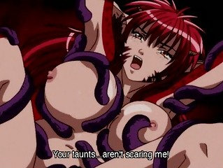 hentai anime creature babe pleasured by tentacles