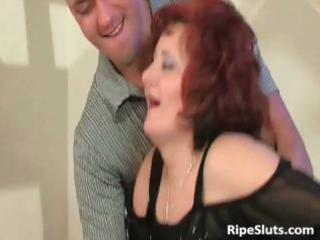 grownup redhaired with giant tits obtains that