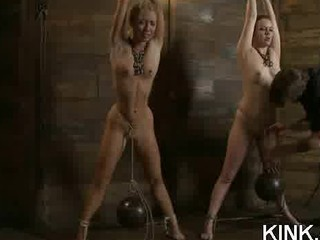 awesome beautiful girl dominated, bound and
