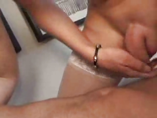 shemale into nylons banged