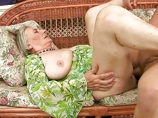 extremely granny elderly takes pierced uneasy