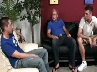 three handsome gay boys having incredible triple