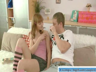 rosanna gladly accepts a lavish sperm inside her