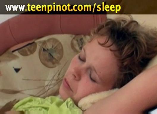 sleeping chick pierced by old boys