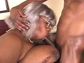 bbw dark grandma acquires a piece of hunk libido