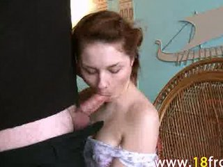 deepthroat of sweetheart 18yo euro lady