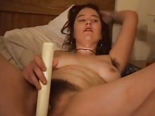 celeste works her hirsute hole with several
