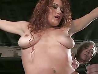 french angel bound and twin penetrated