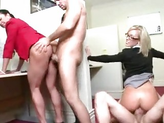 two sweet secretaries and bunch  porn at agency