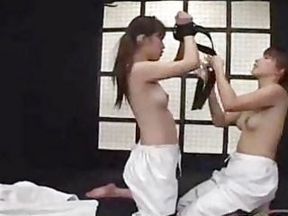 asian chick inside judo skirt acquiring her arms