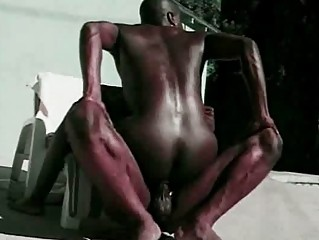 two extremely impressive dark studs arse cave