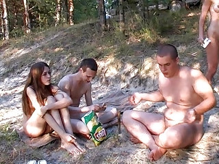 russian nudists (happy duos dont ware pants)