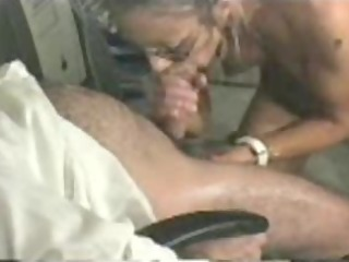 girl with glasses licks and gets facial