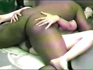 cuckold man helps play his wifes brown fucker -