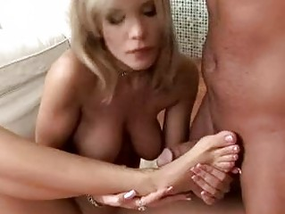 desirable blond with super  breast and feet like