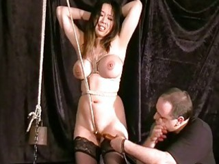 cruel eastern  cave bondage and forced orgasm