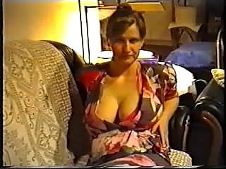 lady flashing large boobs inside a underwear