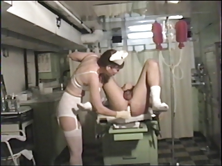 doctor uses the prostate massager on him!