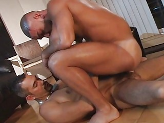 gay hunk turned on by butt tasting