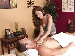 slow massage goes tough until a happy ending