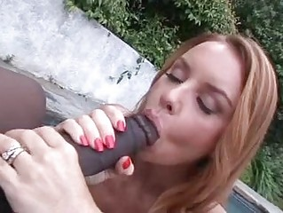fat chested redhaired momma licks large dark