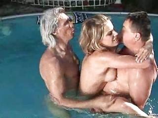 dirty laraan into the swimmingpool